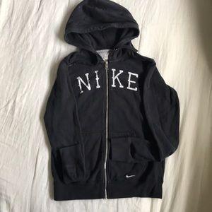 Women's Nike zip hoodie in black size medium